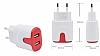 GALIO Yüksek Kapasiteli Micro USB Beyaz Şarj Aleti - Resim 2