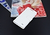 Eiroo General Mobile Discovery Air Cüzdanlı Yan Kapaklı Beyaz Deri Kılıf - Resim 3