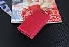 Eiroo General Mobile Discovery Air Cüzdanlı Yan Kapaklı Kırmızı Deri Kılıf - Resim 3