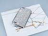 Eiroo Glows General Mobile Discovery Taşlı Silver Rubber Kılıf - Resim 2