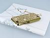 Eiroo Glows General Mobile Discovery Taşlı Gold Rubber Kılıf - Resim 2