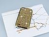 Eiroo Glows General Mobile Discovery Taşlı Gold Rubber Kılıf - Resim 1