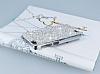 Eiroo Glows General Mobile Discovery Taşlı Silver Rubber Kılıf - Resim 1