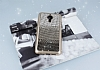 General Mobile GM 5 Plus Taşlı Geçişli Siyah Silikon Kılıf - Resim 1