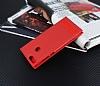 General Mobile GM 8 GO Gizli Mıknatıslı Yan Kapaklı Kırmızı Deri Kılıf - Resim 2