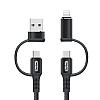 Go Des GD-UC587 4 in 1 Type-C-Lightning To PD-USB Kablo 1m