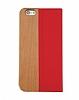 GOODEA iPhone 6 Plus / 6S Plus Ahşap Kapaklı Kırmızı Kılıf - Resim 1
