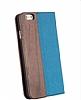 GOODEA iPhone 6 Plus / 6S Plus Ahşap Kapaklı Mavi Kılıf - Resim 2