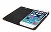 GOODEA iPhone 6 Plus / 6S Plus Ahşap Kapaklı Mavi Kılıf - Resim 3