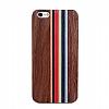 GOODEA iPhone 6 Plus / 6S Plus Darkwood Rainbow Ahşap Kılıf - Resim 1