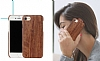 GOODEA iPhone 6 Plus / 6S Plus Ultra Thin Darkwood Ahşap Kılıf - Resim 4