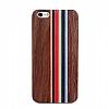 GOODEA iPhone 7 Plus / 8 Plus Darkwood Rainbow Ahşap Kılıf - Resim 1