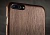 GOODEA iPhone 7 Plus / 8 Plus Ultra Thin Darkwood Ahşap Kılıf - Resim 4