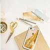 Guess Glitter iPhone 7 / 8 Simli Gold Silikon Kılıf - Resim 1
