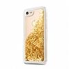 Guess Glitter iPhone 7 / 8 Simli Gold Silikon Kılıf - Resim 3