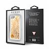 Guess Glitter iPhone 7 / 8 Simli Gold Silikon Kılıf - Resim 6