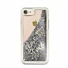 Guess Glitter iPhone 7 / 8 Simli Silver Silikon Kılıf - Resim 1