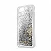 Guess Glitter iPhone 7 / 8 Simli Silver Silikon Kılıf - Resim 2