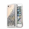 Guess Glitter iPhone 7 / 8 Simli Silver Silikon Kılıf - Resim 3