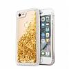 Guess Glitter iPhone 7 / 8 Simli Gold Silikon Kılıf - Resim 5