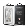 Guess Glitter iPhone 7 / 8 Simli Silver Silikon Kılıf - Resim 4