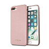 Guess iPhone 7 Plus / 8 Plus Rose Gold Deri Kılıf - Resim 1