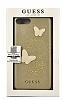 Guess iPhone 7 Plus / 8 Plus Kelebekli Gold Deri Kılıf - Resim 1