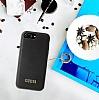 Guess iPhone 7 Plus / 8 Plus Siyah Deri Kılıf - Resim 1