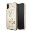 Guess iPhone X Kelebekli Gold Deri Kılıf - Resim 3