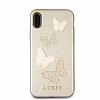 Guess iPhone X Kelebekli Gold Deri Kılıf - Resim 2