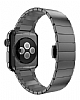 Hoco Apple Watch Link Bracelet Dark Silver Metal Kordon (42 mm) - Resim: 1