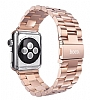 Hoco Apple Watch Rose Gold Metal Kordon 42 mm (Kılıf Hediyeli) - Resim: 3