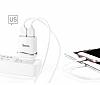 Hoco C12 Micro USB Yüksek Kapasiteli Siyah Şarj Aleti - Resim 1