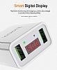 Hoco C25A Dijital Göstergeli Beyaz Ev Şarj Adaptörü - Resim 9