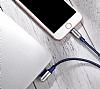 Hoco Capsule Serisi U17 Lightning Mavi Data Kablosu 1.2m - Resim 6