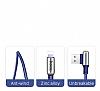 Hoco Capsule Serisi U17 Lightning Mavi Data Kablosu 1.2m - Resim 1