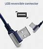 Hoco Capsule Serisi U17 Lightning Mavi Data Kablosu 1.2m - Resim 3