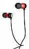 Hoco EPM01 Premium Mikrofonlu Kulakiçi Kırmızı Kulaklık - Resim 3