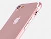 Hoco Light Series iPhone 7 / 8 Şeffaf Silikon Kılıf + Siyah Cam Ekran Koruyucu - Resim 5