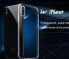 Hoco Light Series iPhone X Şeffaf Silikon Kılıf + Siyah Cam Ekran Koruyucu - Resim 2