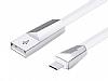 Hoco X4 ZINC ALLOY USB Type-C Beyaz Data Kablosu 1,20m - Resim 4