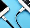 Hoco X4 ZINC ALLOY USB Type-C Siyah Data Kablosu 1,20m - Resim 2