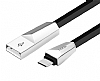 Hoco X4 ZINC ALLOY USB Type-C Siyah Data Kablosu 1,20m - Resim 5
