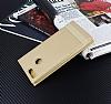 Honor 7X Gizli Mıknatıslı Yan Kapaklı Gold Deri Kılıf - Resim 1