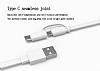 Honor Micro USB & Type-C Beyaz Data Kablosu 1.5m - Resim 1