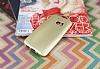 HTC 10 Mat Gold Silikon Kılıf - Resim 2