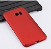 HTC 10 Tam Kenar Koruma Bordo Rubber Kılıf - Resim 3