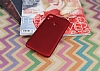 HTC Desire 10 Pro Mat Kırmızı Silikon Kılıf - Resim 1