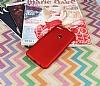 HTC Desire 12 Plus Mat Kırmızı Silikon Kılıf - Resim 1