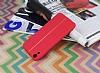 HTC Desire 820 Kadife Dokulu Kırmızı Silikon Kılıf - Resim 2
